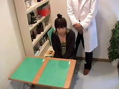 Sweet Jap nailed hard in medical fetish spy cam video