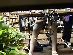 Girl gets her panty up hot fok video shot under the table AC59