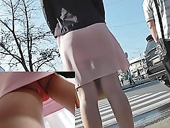 Angel in sheer petticoat hawt upskirting