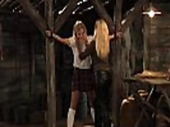 Schoolgirl In Chains Inspected And rouge lesbian By Horny Madame
