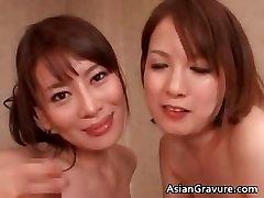 Gorgeous malay exiporn brunette babes suck stiff part2