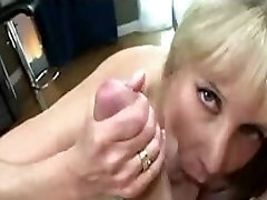 Exquisite MILF with large tits gives a head