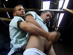 Two gay policemen masturbate together