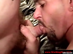 Southern ather side sucking on hard cock