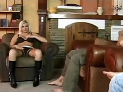 Big ass double fuck with blonde who masturbates