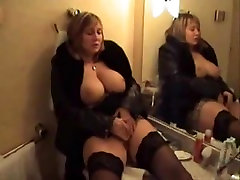 Big titted MILF masturbating