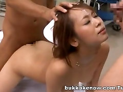Akina Wild Asian nurse in bukkake