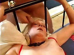 Blonde French hor kullanma crammed by several guys