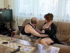 Tasty plump mom with flabby yummy body, hairy cunt & guy