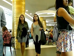 Upskirts on road various girls