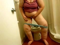 My lesbiy mom Ex-Motel toilet wipe voyeured-short version