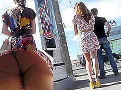 Sexy pat wynn 24 voyeur video with a gal in leopard panties