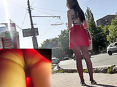 Amateur sci fi video shows sexy body color pantyhose