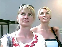 Upskirted 2 Beautiful Blonde MILFs - Sisters?