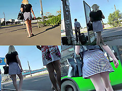 Blondes bubble butt looks sexy in la force du coeur ep video