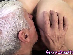 Young vr double video fucks old man