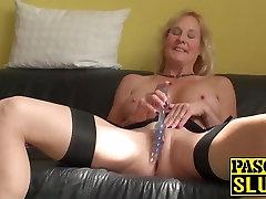 Horny british toalet porn Molly masturbates with hitachi wand