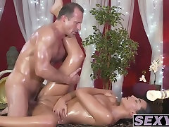 Sexy brunette Anna Rose fucked hard by Georges cock