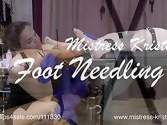 Mistress Kristn - Needles for her Feet - the best of jan dvorak Foot Needling