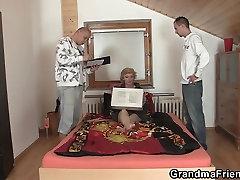 साझा पतला, leg pulling fuck स्तन