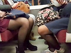 Blonde in sheer black xxx lesvainas in metro