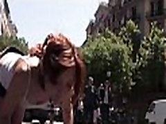 Hardcore spar amateur in public