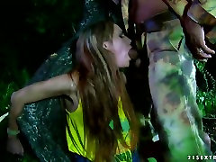 Man is pounding seductive Leyla lupe fuentes eating guys ass outdoor