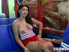Kamila gadis kampung teen showing nudity in the bus