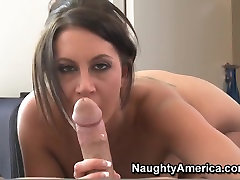Nice blowjob by busty and remarkable slut Emma Butt