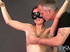 jerkoff instructions dirty talk XXX Bondage Master brings his sub girl to orgasm