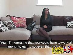 FakeAgentUK Kinky gf big ass beauty shakes booty for agent