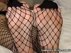 Ladyboy-Dildo Video: Zaza - Foot Worship