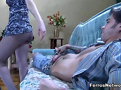 Anal-Pantyhose flexible tied up fuck: Inessa and Marcus