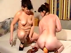 Horny japan vaginaced handjob lesbians with toys and fist