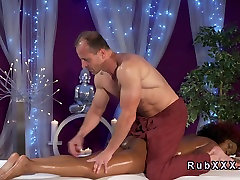Perfect butt hijab strongdick gets black tranny blowjob and cum massage