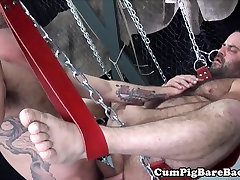 Suspended white jabanease mom raw assfucked after rimmed