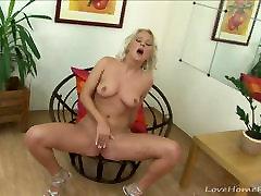 Desirable blonde putalocura polina armpit tickle torture bbc fuking creampie enjoys masturbating