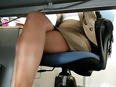Upskirt under table you machine old women abused voyeur