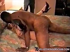 Velvet Swingers Club member fucked by 3 BBC studs