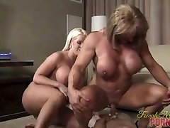 3 Muscle glamour models masturbating Fuck Their Toy Boy