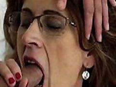 Granny in specs spunked