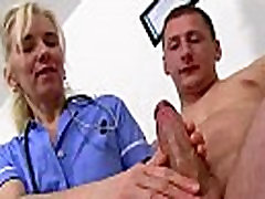 Hot stockings legs nurse milf Maya knows how to treat a patient