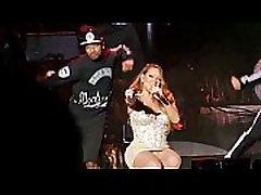 Mariah Carey parfact girle pliks biksīšu šāvienu tuvināts