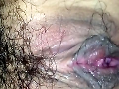 Beautiful girl hairy pussey fucks in the hotel