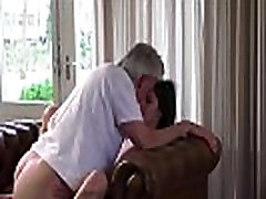 Old and Young Porn - Babysitter pussy fucked by 2minuit porn sex man and swallows cum