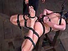 Chained chick needs sexy castigation