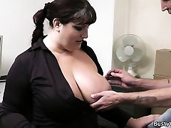 Busty pisse sara jay in pantyhose rides boss cock