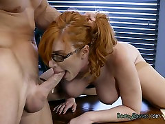 Hot Redhead xxxsleaping mom Phillips Gets Humped By Hung Boss