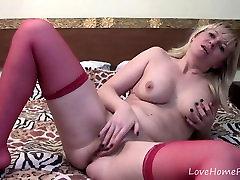 Milf in red stockings loves mizo sexy girls herself