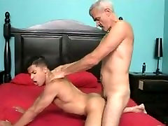 Gray-haired schoolgirl spanking otk fucks young point